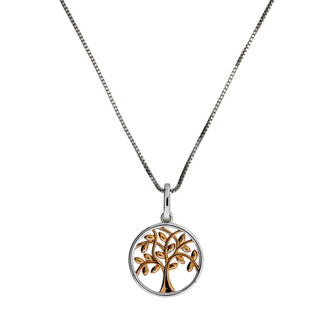 Rose Gold Vermeil Tree of Life Pendant