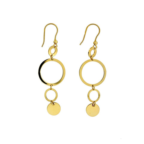 Drop earrings to suit a square face