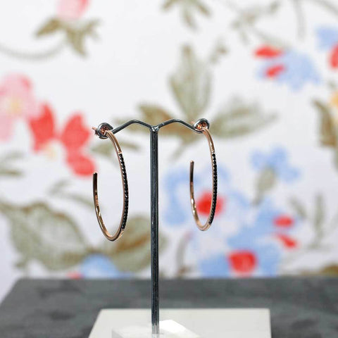 Rose Gold Vermeil Hoop Earrings