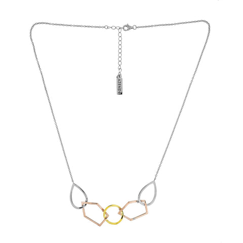 Vermeil Linked Shapes Necklace