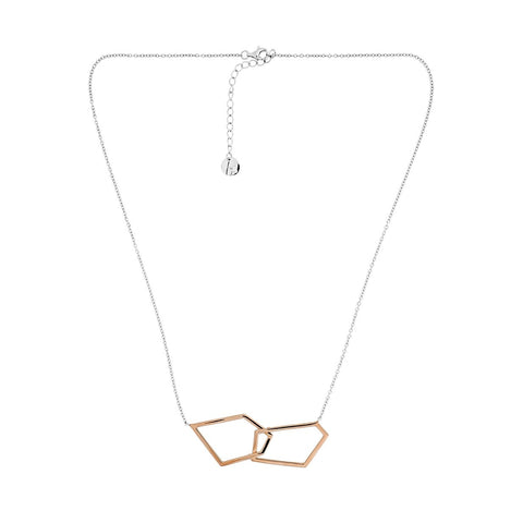 Pinnacle Interlocking Shapes Necklace