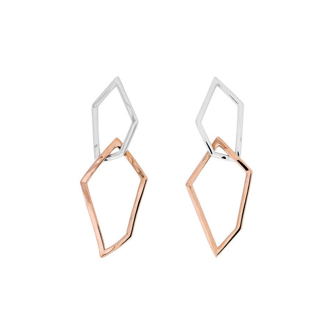 Interlocking Shapes Drop Earrings