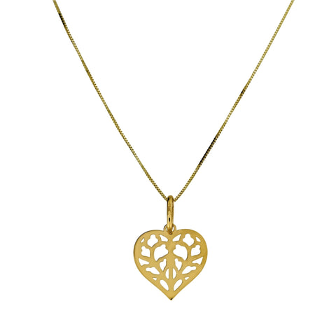 Gold Heart of Yorkshire Pendant
