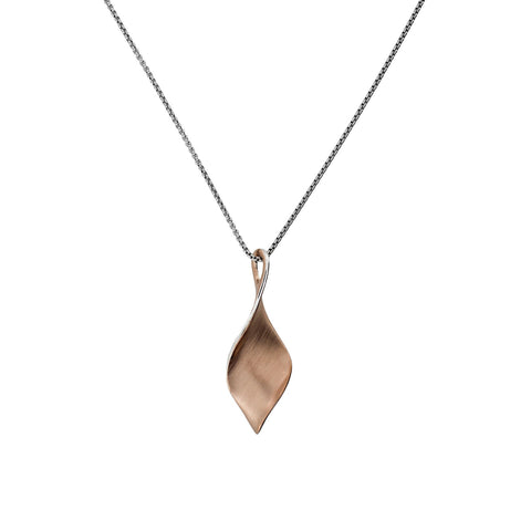 Rose Vermeil Twist Pendant