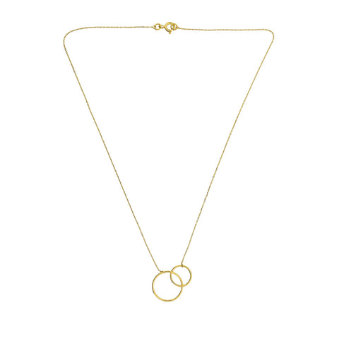 Gold Interlocking Circles Necklace