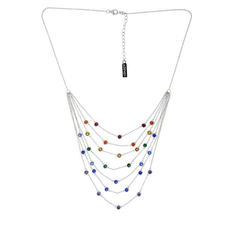 Seven Layer Rainbow Necklace