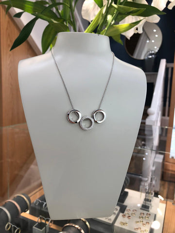 Triple Open Circle Necklace