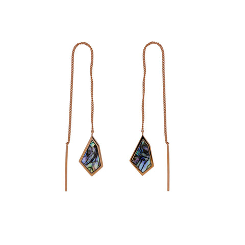 Pinnacle Abalone Threader Earrings