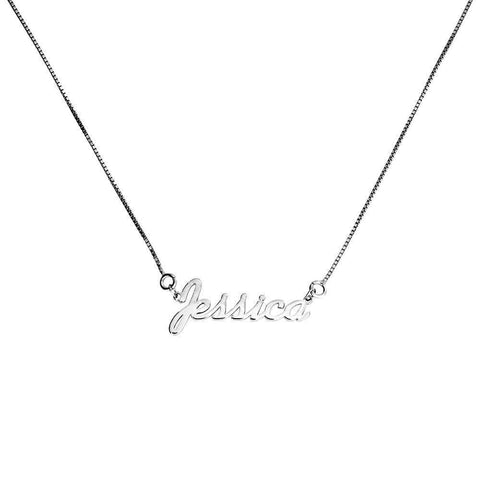 Silver Personalised Name Necklace
