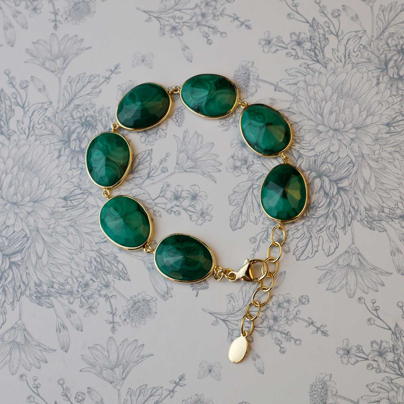 18ct Gold Vermeil Malachite Avalon Bracelet