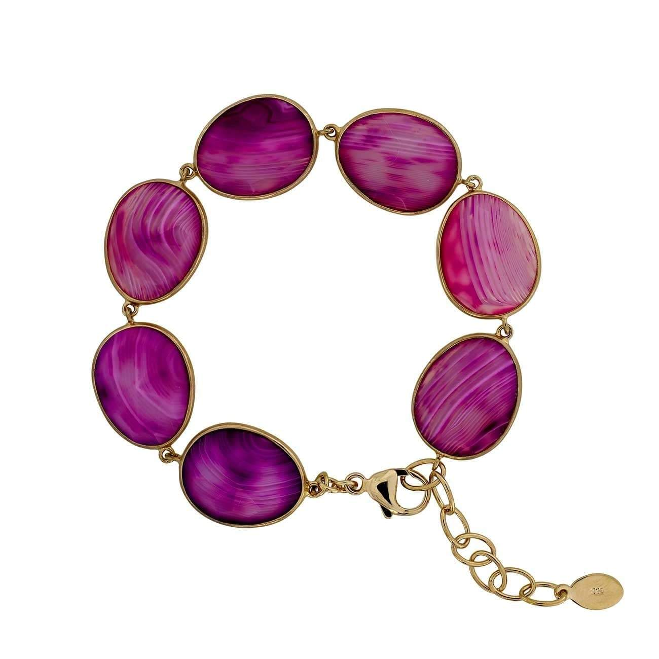 18ct Rose Gold Vermeil Persian Agate Avalon Bracelet