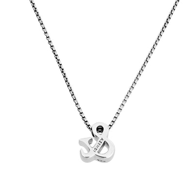 Ampersand Silver Pendant