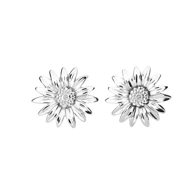 Daisy April Birthday Flower Earrings