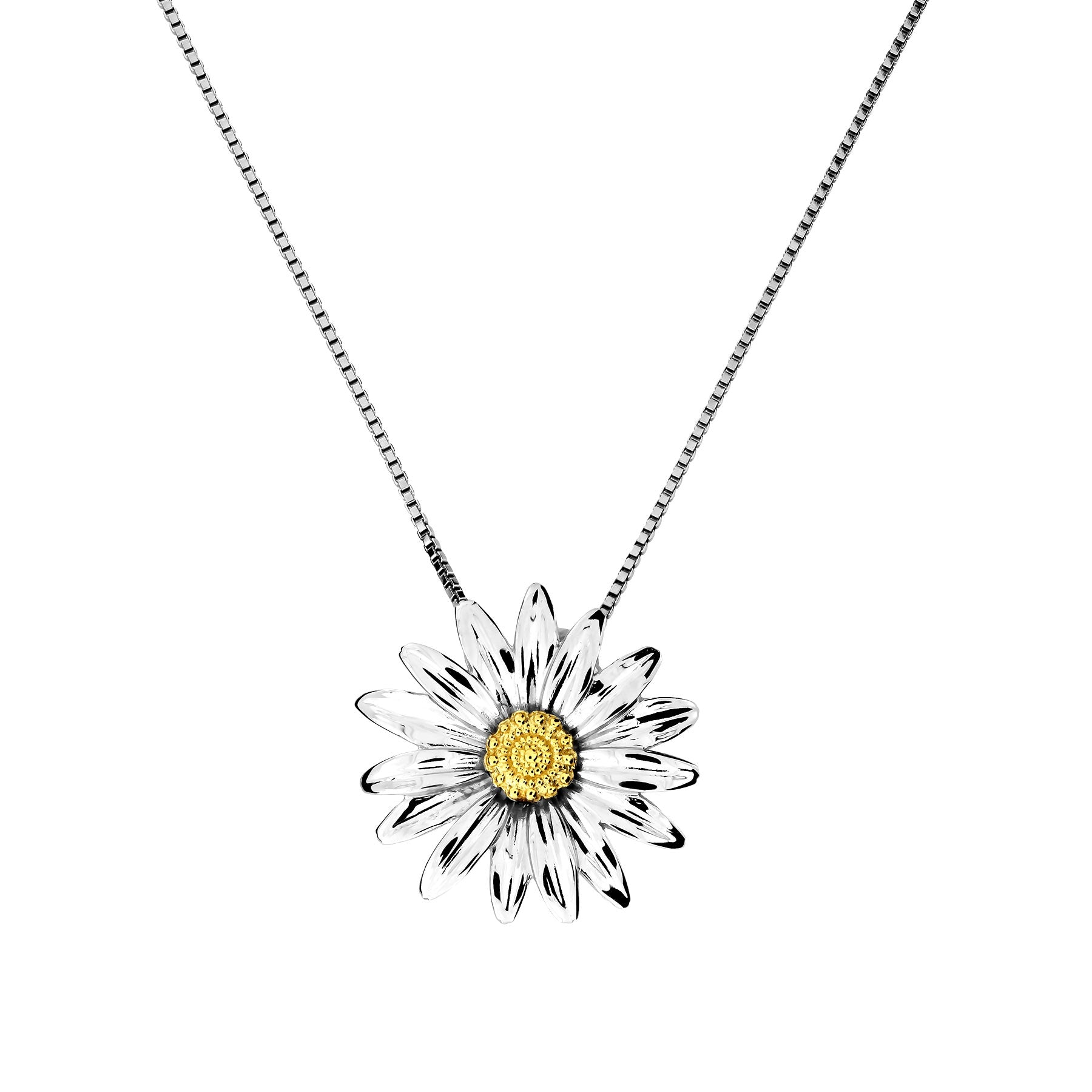 Daisy April Birthday Flower Pendant