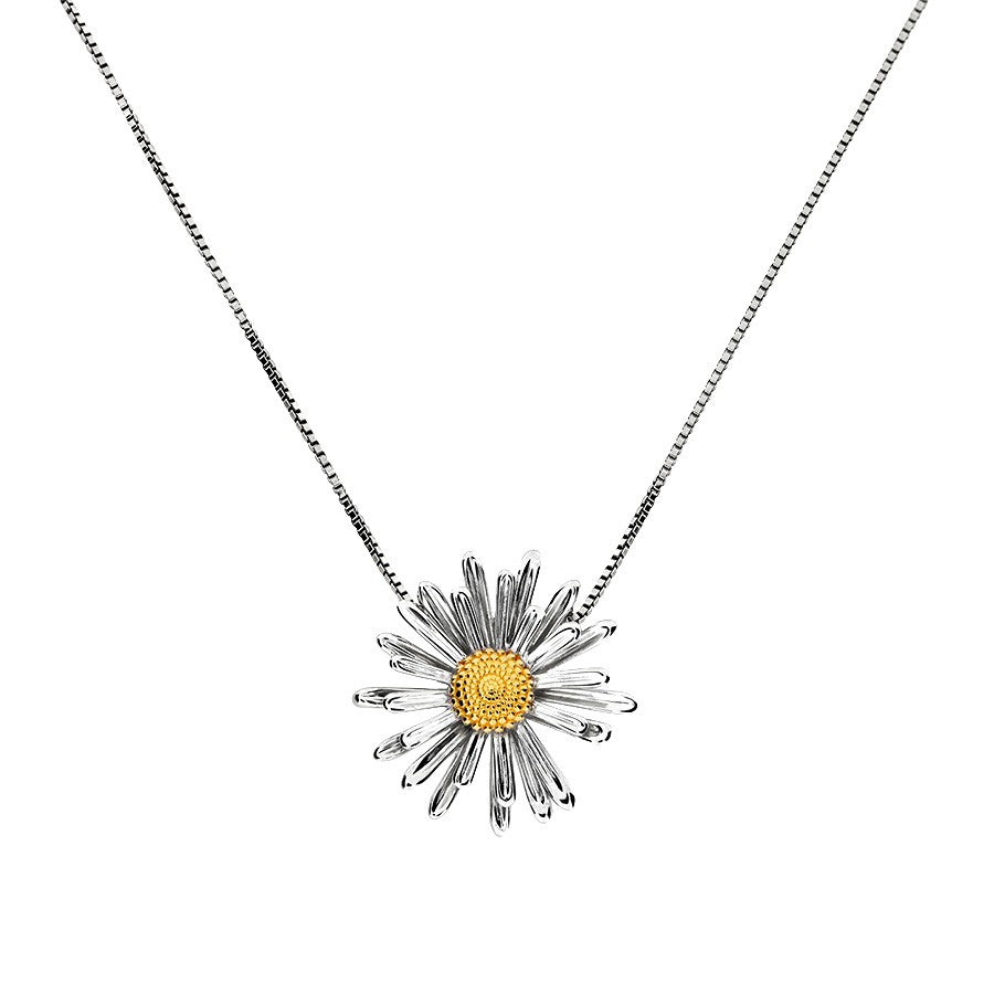 Michaelmas Daisy September Birthday Flower Pendant