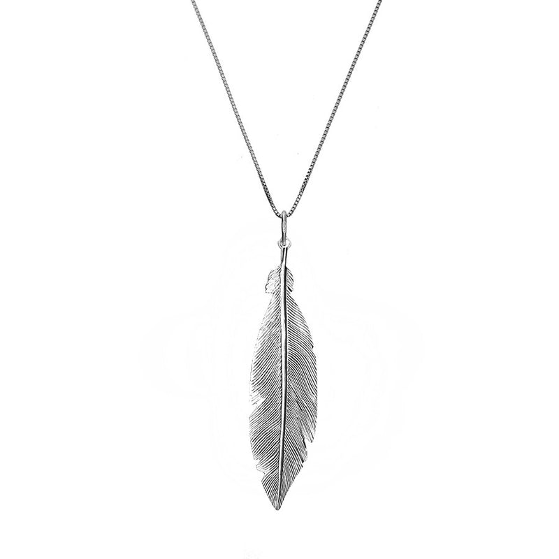 Rose Large Feather Pendant