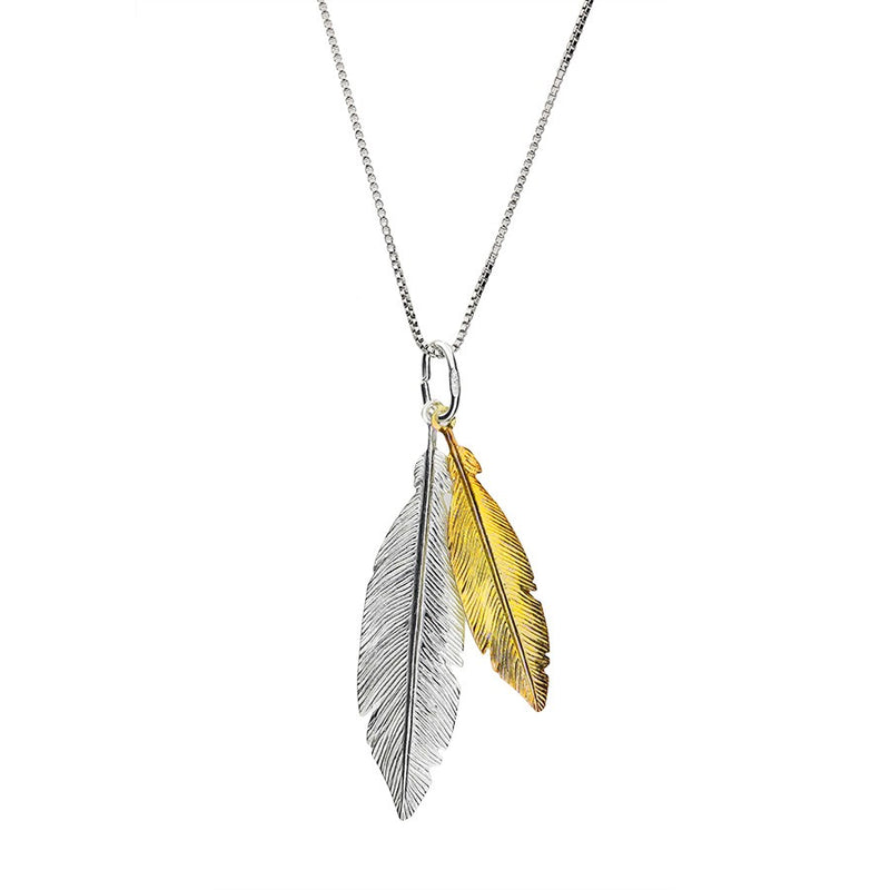 Spirited Away Twin Feather Pendant