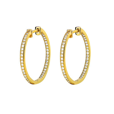 Pavé Hinged Hoops