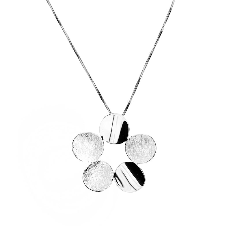 Sterling Silver Circles Flower Pendant