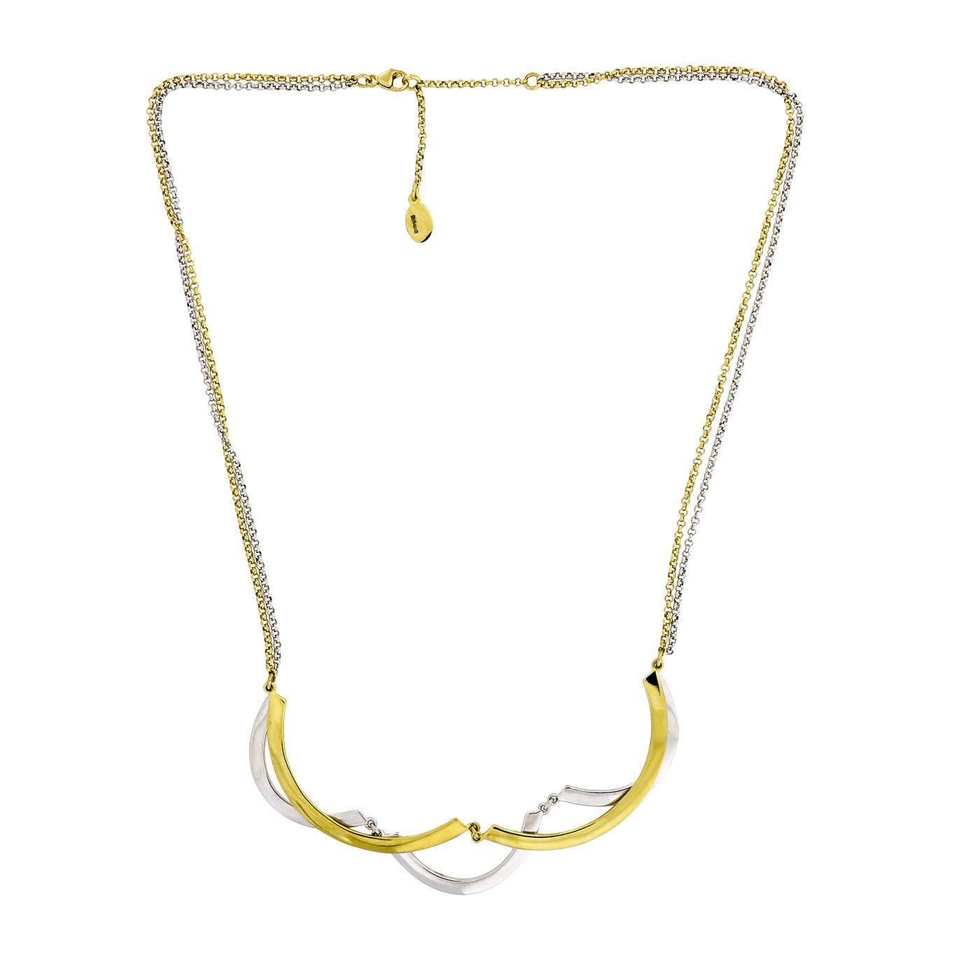Two-tone Curves Necklace