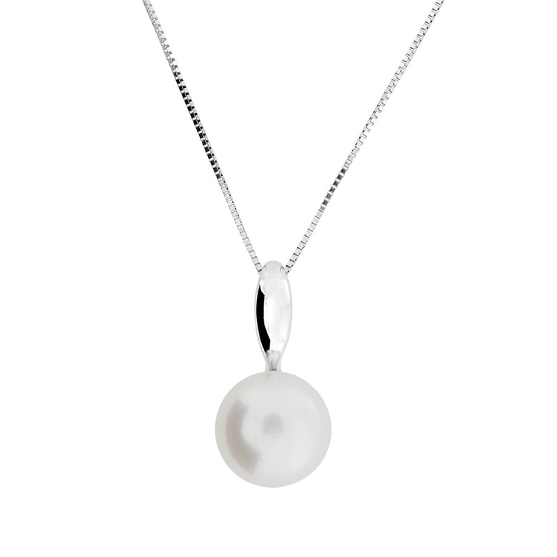 Gold & Freshwater Pearl Drop Pendant