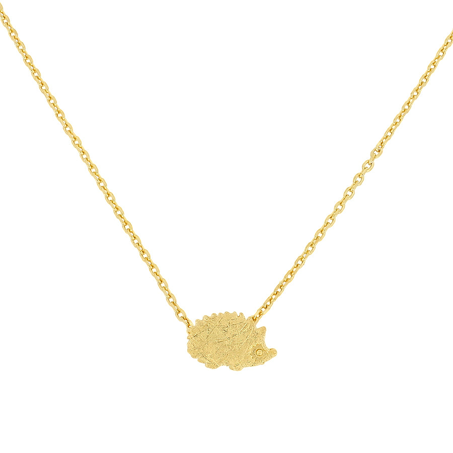 Gold Vermeil Hedgehog Necklace