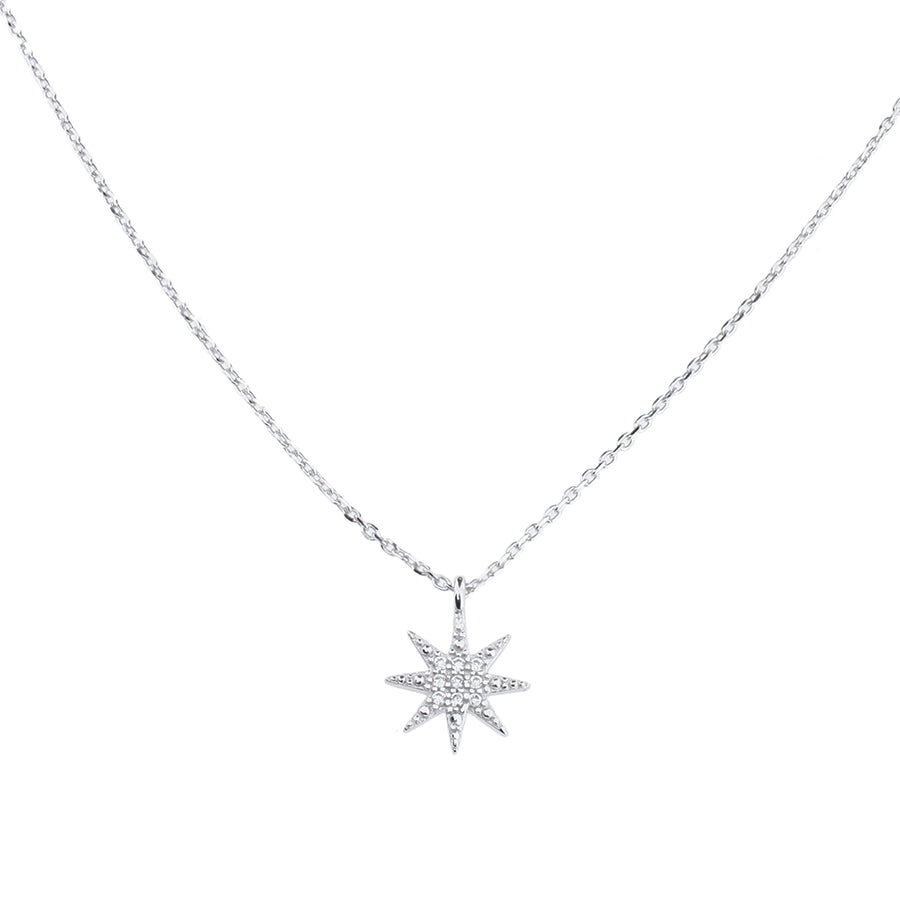 Silver North Star Pendant