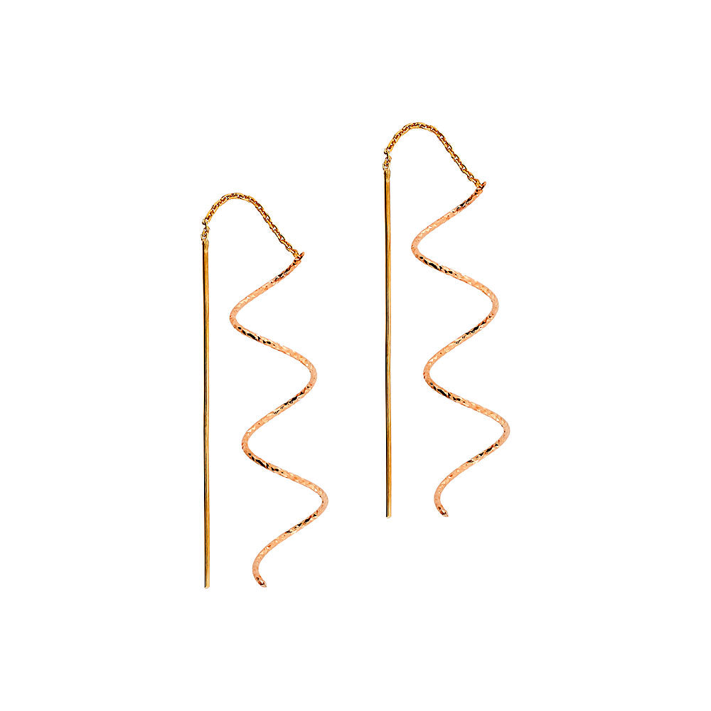 Spiral Pull-through Earrings
