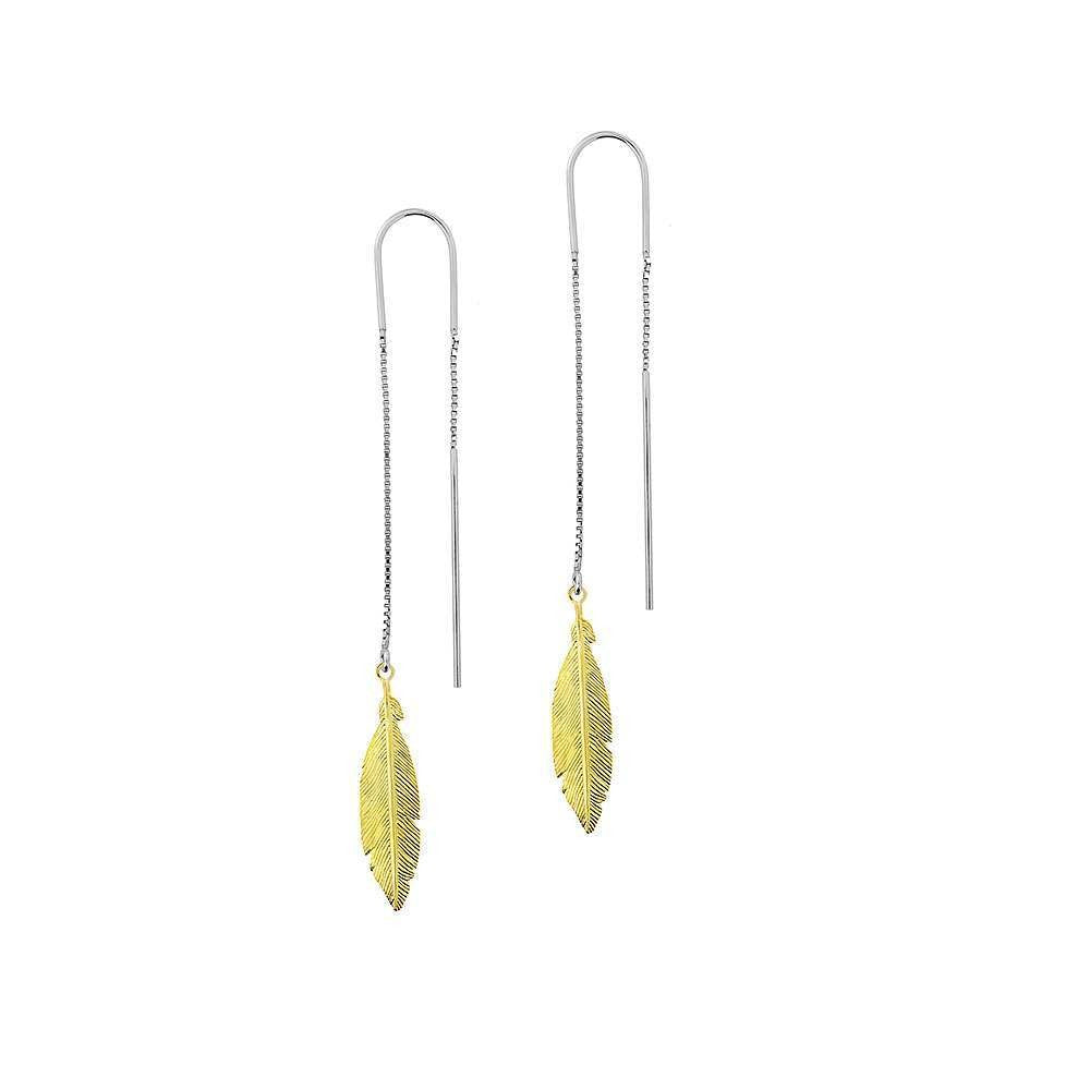 Feather Pull-through Earrings