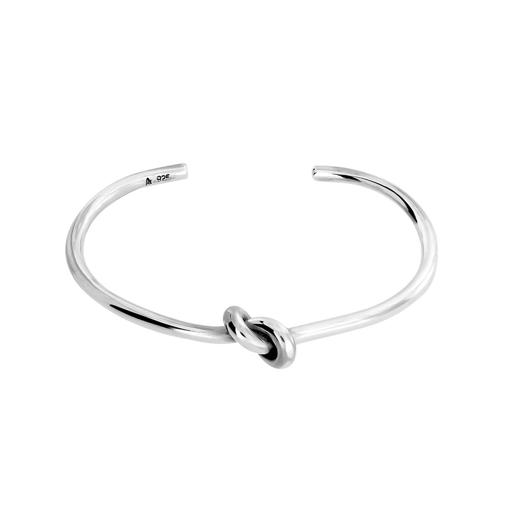 Silver Central Knot Bangle