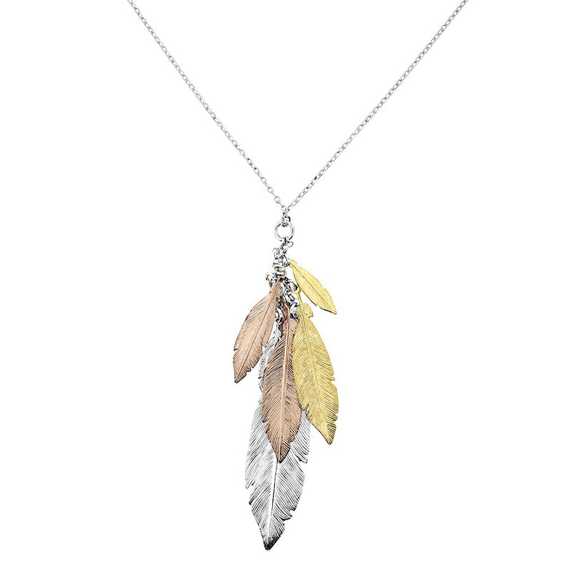 Feather Cluster Pendant