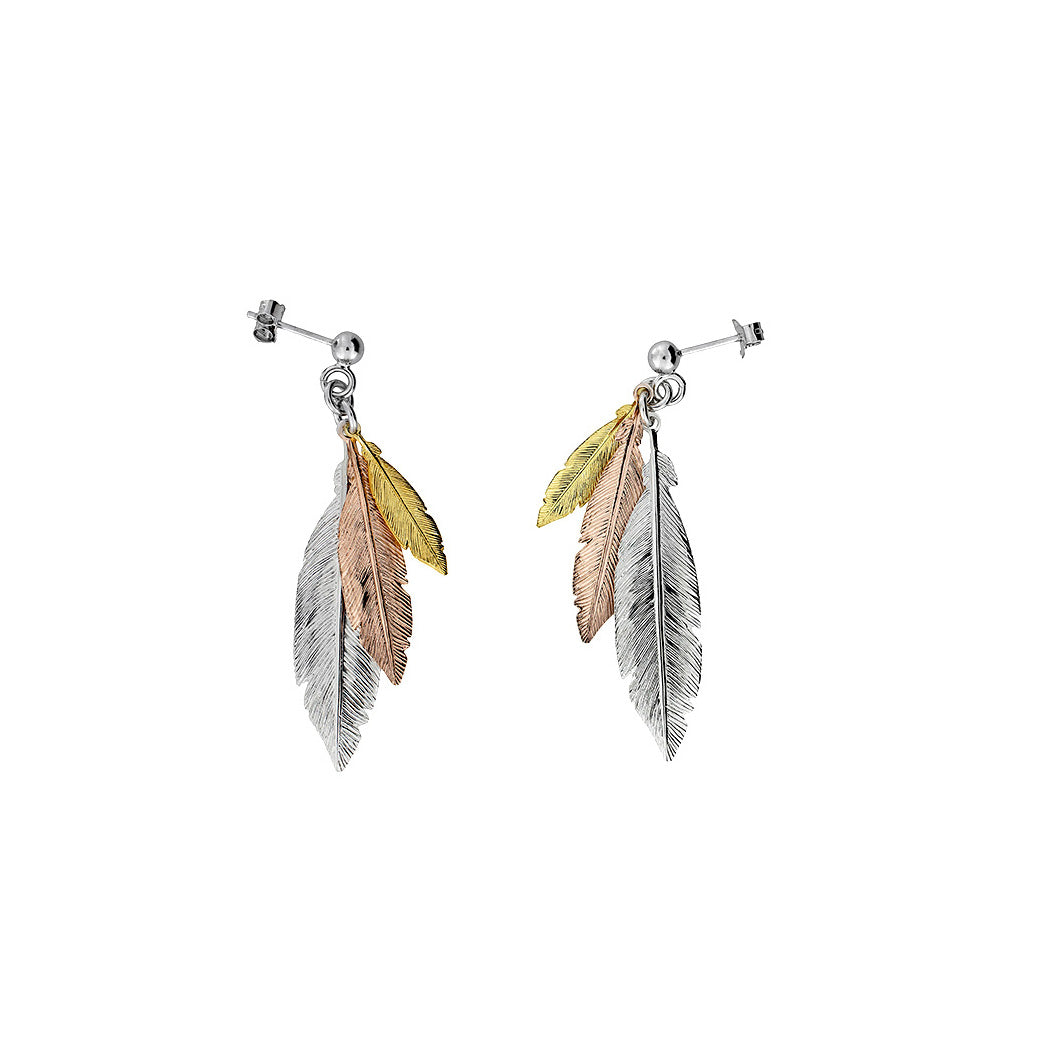 Feather Cluster Earring