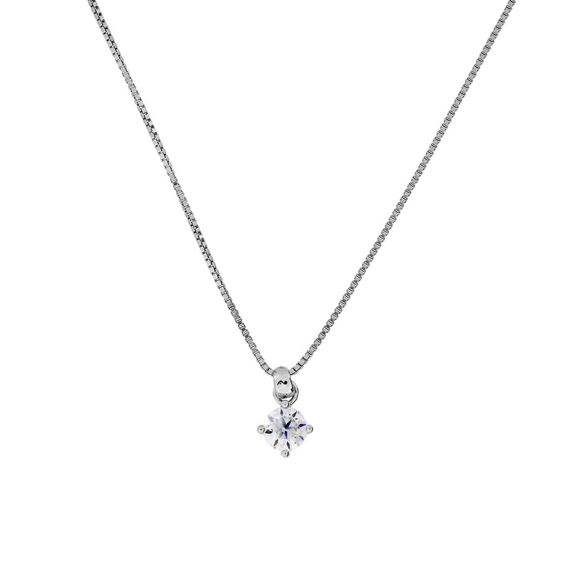 Brilliant  Cut CZ Pendant with Claw Setting 5mm