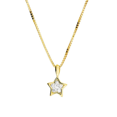 Gold & Diamond Star Pendant
