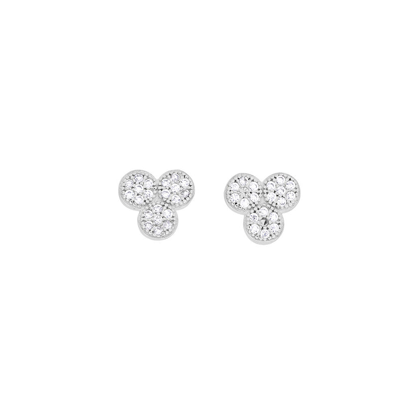 Triple Circle Silver Stud Earring