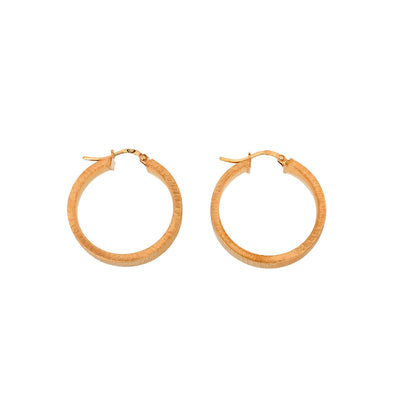 Ice-Rink Finish Hoop Earrings