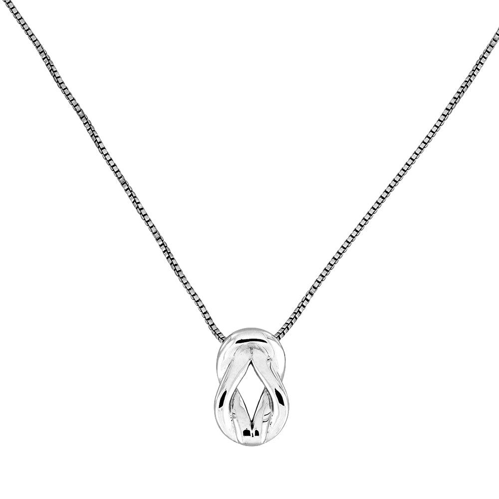Sterling Silver Love-Knot Pendant