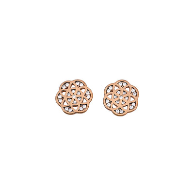Pavé Camellia Stud Earrings