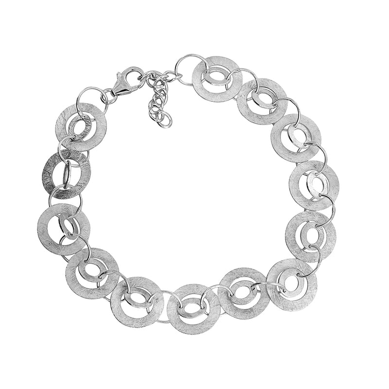 Ice-Rink Linked Circles Bracelet