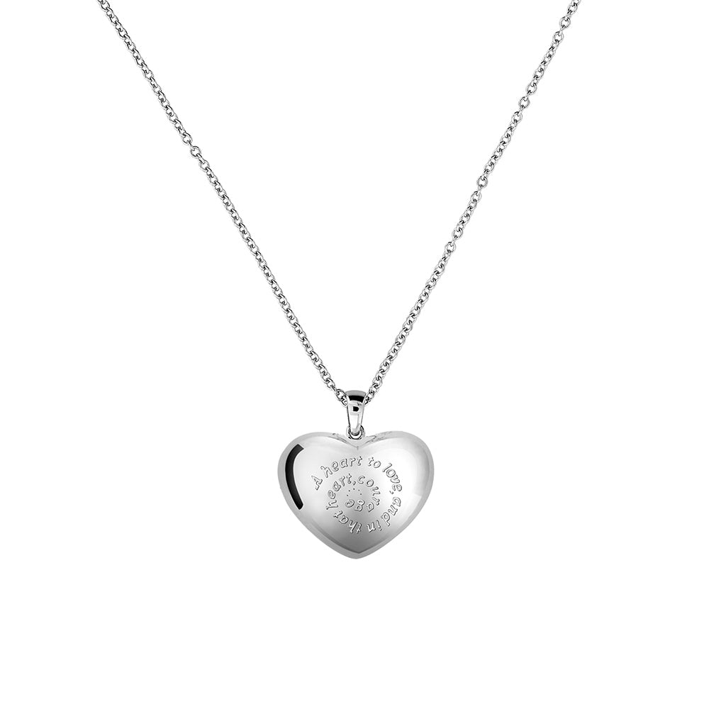 Silver Heart-Shape Locket Pendant