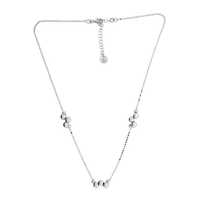 Silver Alternating Beads Necklace