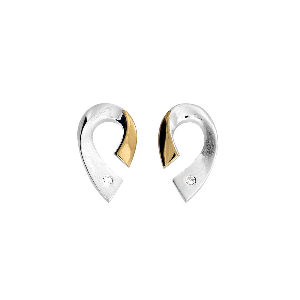 Silver & Gold Vermeil Arc Earrings