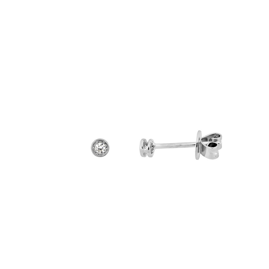 9ct White Gold & Diamond Studs