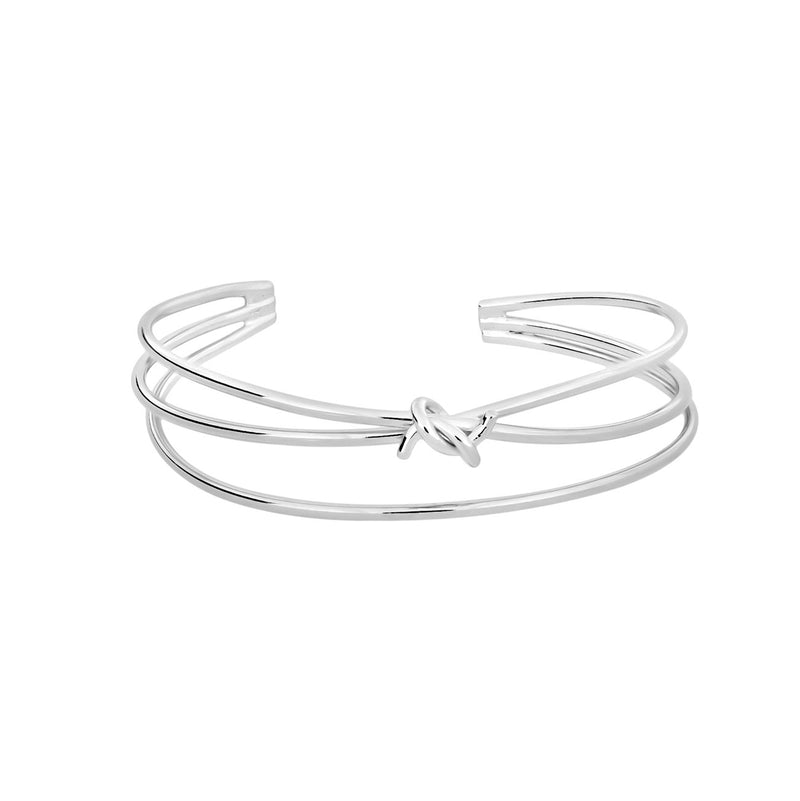 Sterling Silver Triple Strand Knot Cuff