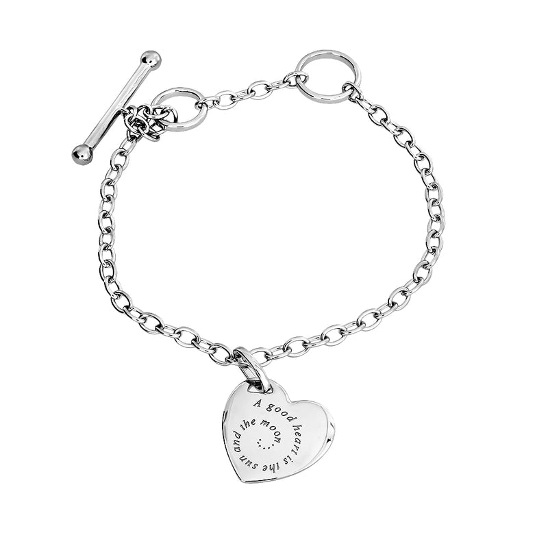 Silver Heart Shakespeare Bracelet