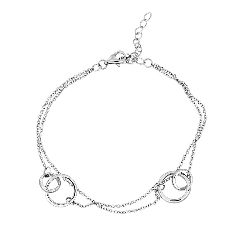 Double Interlocking Circles Bracelet