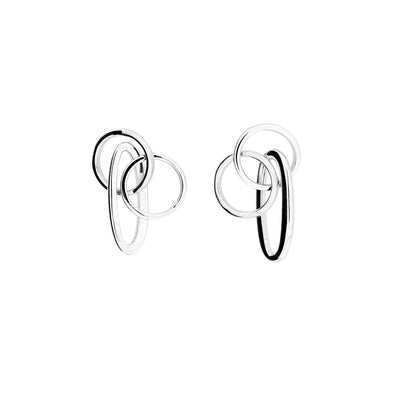 Double Circle & Oval Drop Earring