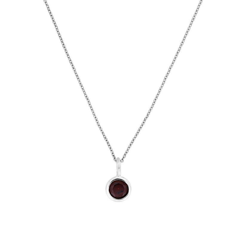 January Birthstone Pendant - Garnet