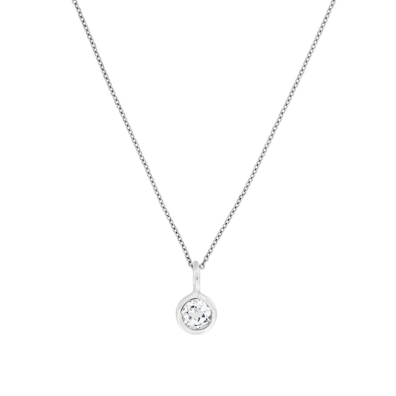April Birthstone Pendant - White Topaz