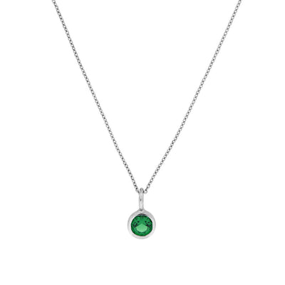 May Birthstone Pendant - Siberian Emerald